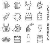 beer icons set. thin line design | Shutterstock .eps vector #448632934