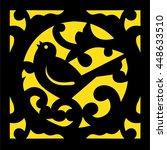 stencil birds. ornament.... | Shutterstock .eps vector #448633510