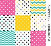 scandinavian seamless pattern... | Shutterstock .eps vector #448633540