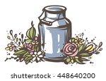 rustic handsketched... | Shutterstock .eps vector #448640200