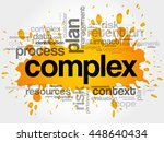 complex word cloud collage ... | Shutterstock .eps vector #448640434
