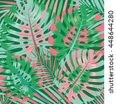palm leaves background. vector...   Shutterstock .eps vector #448644280