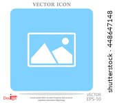 nature photo vector icon | Shutterstock .eps vector #448647148