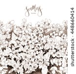 jasmine flowers watercolor hand ... | Shutterstock . vector #448660414