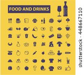 food and drinks icons | Shutterstock .eps vector #448667110
