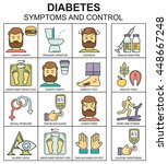 diabetes symptoms and control... | Shutterstock .eps vector #448667248