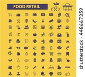food retail icons | Shutterstock .eps vector #448667359