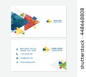 business card or visiting card... | Shutterstock .eps vector #448668808