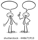 two cartoon business people... | Shutterstock . vector #448671913