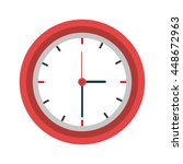 clock isolated flat icon  time...   Shutterstock .eps vector #448672963