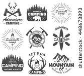 set of camping equipment symbols | Shutterstock .eps vector #448673893