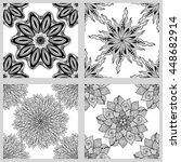 set of mandala seamless... | Shutterstock .eps vector #448682914