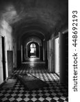 old abandoned corridor with... | Shutterstock . vector #448692193