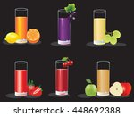 set of healthy fruit  juices on ... | Shutterstock .eps vector #448692388