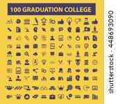 graduation college icons | Shutterstock .eps vector #448693090
