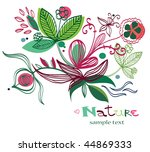 abstract floral background | Shutterstock .eps vector #44869333