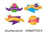 vector collection of bright... | Shutterstock .eps vector #448697014