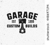 garage  custom builds retro... | Shutterstock .eps vector #448697194