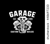 garage  custom builds retro... | Shutterstock .eps vector #448697233