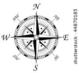 vector version. compass symbol... | Shutterstock .eps vector #44870185
