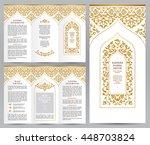 ornate vintage booklet with... | Shutterstock .eps vector #448703824