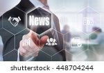 a businessman selecting a news... | Shutterstock . vector #448704244