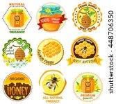 honey emblem set with...   Shutterstock .eps vector #448706350
