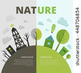 planet ecology composition with ... | Shutterstock .eps vector #448706854
