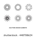 abstract circular halftone dots ... | Shutterstock .eps vector #448708624