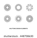 abstract circular halftone dots ... | Shutterstock .eps vector #448708630