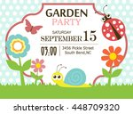 garden party invitation | Shutterstock .eps vector #448709320