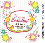 happy birthday card | Shutterstock .eps vector #448709620