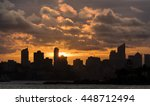 harbor at sunset sydney... | Shutterstock . vector #448712494