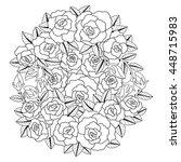 hand drawn rose flower design... | Shutterstock .eps vector #448715983