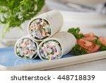 tuna wraps with cucumber onion...