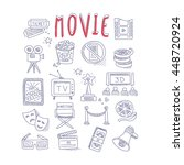 movie produstion and industry... | Shutterstock .eps vector #448720924