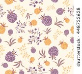 seamless pattern with berries.... | Shutterstock .eps vector #448722628