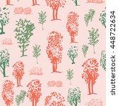 seamless tree pattern ...   Shutterstock .eps vector #448722634