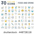 set vector line icons drinks ... | Shutterstock .eps vector #448728118