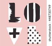 love. hand draw typographic... | Shutterstock .eps vector #448730749