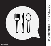 web line icon. cutlery  spoon ... | Shutterstock .eps vector #448731730