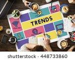 trends design create fashion... | Shutterstock . vector #448733860