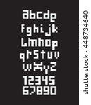 pixel font  alphabet  type... | Shutterstock .eps vector #448734640