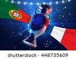 cup on the football field with... | Shutterstock . vector #448735609