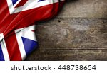 united kingdom flag on wooden... | Shutterstock . vector #448738654