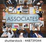 business associates meeting...   Shutterstock . vector #448739344