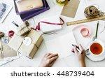 gift present handmade creative... | Shutterstock . vector #448739404