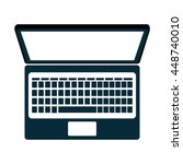 personal computer laptop...   Shutterstock .eps vector #448740010