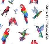 Tropical Birds Seamless Patter...
