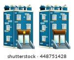 cartoon illustration of house   ... | Shutterstock . vector #448751428